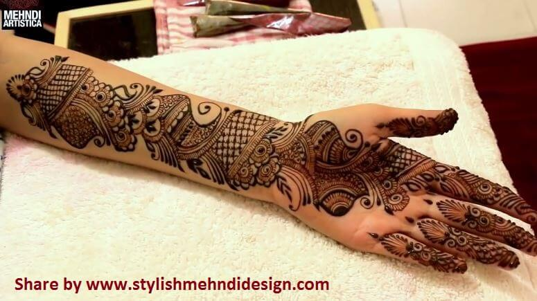 long arabic mehndi design